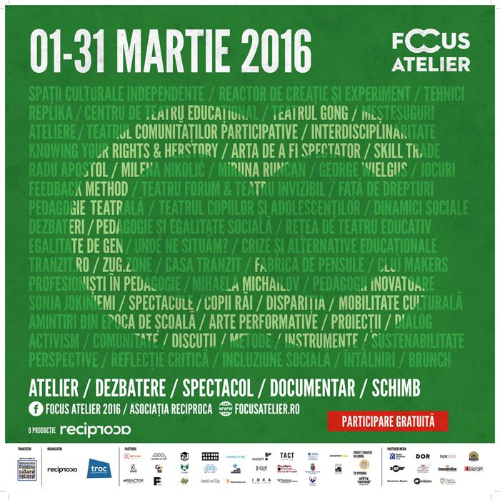 O săptămâna de înscrieri la Focus Atelier 2016