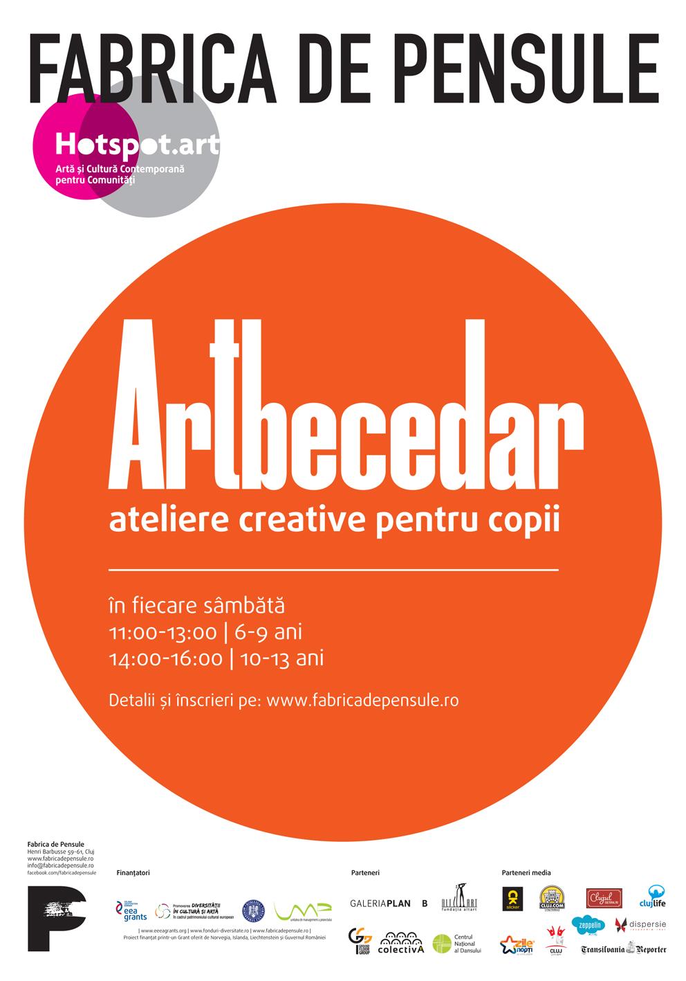 ARTbecedar – o nouă serie de ateliere creative pentru copii