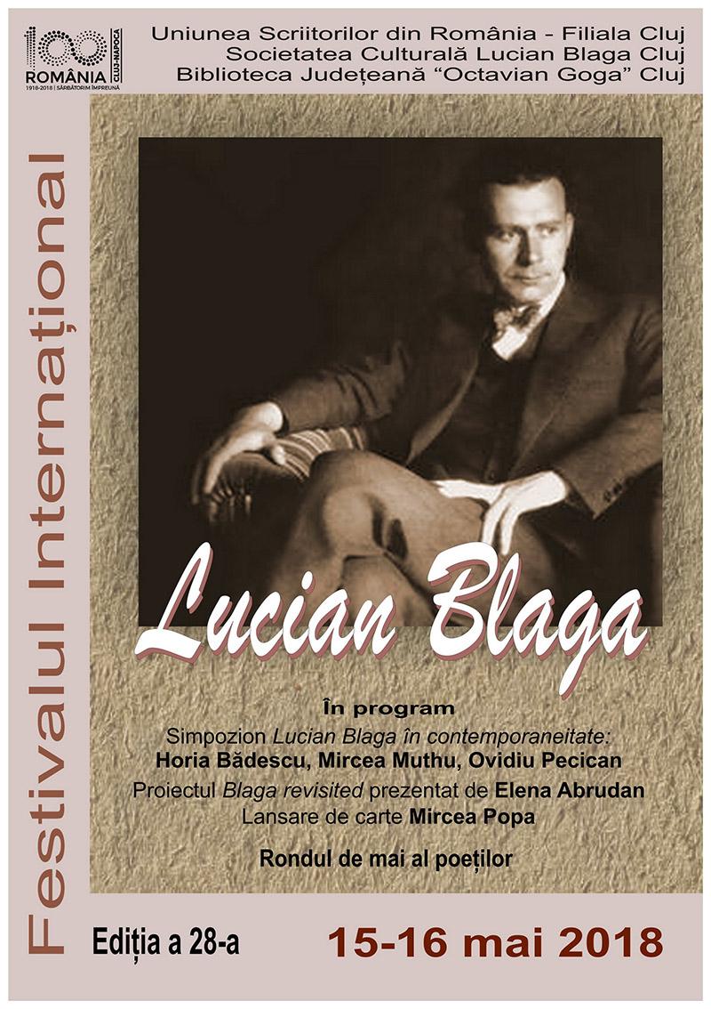 Festivalul Internaţional Lucian Blaga, ediţia a 28-a